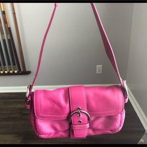 Hot pink Coach shoulder bag